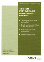 3rd International Conference Thin-Film Photovoltaics - OTTI e.V., Renewable Energies (Ed.)
